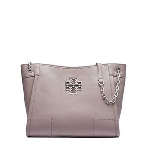 Tory Burch Britten Small Tote French Grey